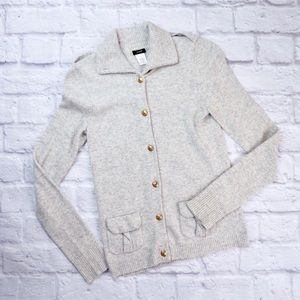J.CREW Wool & Cashmere Button Up Sweater
